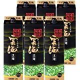 そば焼酎 雲海 黒麹25度1800mlパック 1ケース(6本入)