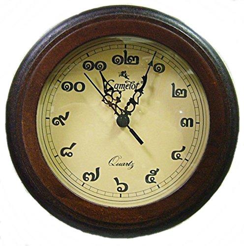 キャメロット 時計 タイ文字時計 丸 30cm 壁掛け時計 [並行輸入品]