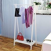 ハンガー- 木製コートラック着陸ハンガーシンプルな近代洋服帽子靴棚ベッドルーム収納ラック -Home Decor (色 : C2, サイズ さいず : Single layer)