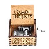 Akozon  オルゴール 木製の手のクランク レトロオルゴール模様 機械クラシック クラフトクリエイティブギフト かわいい綺麗バレンタイン 子供誕生日プレゼント オルゴール(ゲーム・オブ・スローンズ)