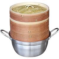 杉蒸篭(せいろ)18cm2段鍋つきセット ヘルシーで美味しい♪温野菜や蒸し鍋、蒸し料理が簡単にできる蒸し器
