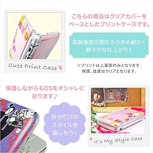 new Nintendo 3DS LL カバー ケース ハード かわいいGIRLS 21 草花 パステルベージュ系