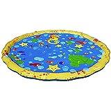 Okiiting 大口径100センチスプリンクラーパッド子供の屋外のおもちゃ夏のクールなおもちゃスプレーデザイン子供のウォーターゲームに適して うまく設計された (色 : 黄, サイズ : 100cm)