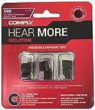 Comply(コンプライ)  T-600 スタンダード ノイズキャンセリング メモリーフォーム イヤホンチップス BOSE Ultra, JBL Response, MONSTER iSport, MUREL, SENNHEISER IE80, SOUNDPEATS QY &More イヤホンをカンタンにアップグレード 機能強化:高音質 遮音性 フィット感 脱落防止イヤーピース Sサイズ, 3ペア