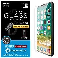 エレコム iPhone X フィルム ガラス ドラゴントレイル  PM-A17XFLGGDT