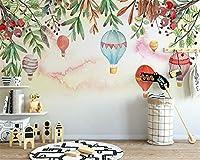 Bzbhart カスタム写真の壁紙現代の高品質の熱気球花夕日を背景の壁画3d壁紙壁画-120cmx100cm