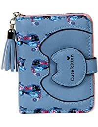 女の子 財布 二つ折りねこちゃん コインケース 小銭入れ 猫 模様 ネコ かわいい 小学生 子供 バッグ