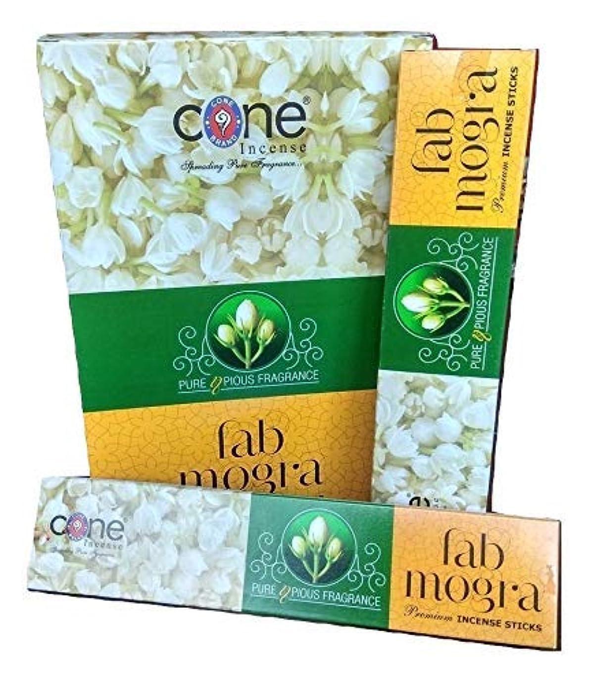 建築蜂ぎこちないCone's Fab Mogra Incense Sticks Pack of 12 (144 Sticks)