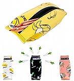 パプア (PAPUA) ペンケース おしゃれ ポーチ ファスナー 付き バナナ フライドポテト ねぎ チーズ 筆箱 人気 高校生 収納 小物入れ Pe-05 (バナナ)