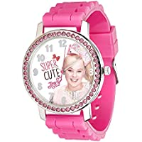 UPD JoJo Siwa Watch with Rhinestones & Ribbed Band in Window Box, Multicolor