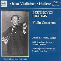 ベートーヴェン/ブラームス:ヴァイオリン協奏曲集(ハイフェッツ/NBC響/トスカニーニ/ボストン響/クーセヴィツキー)(1939 - 1940)