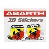 フィアットFIAT アバルトABARTH 純正 3D エンブレムステッカー(2枚組) 59230312 59230312