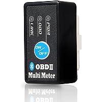MAXWIN(マックスウィン) ELM327 OBD2 スキャン マルチメーター メーター スピードメーター 水温 タコメーター 電圧 診断ツール 日本語専用 アプリ付属 Android Bluetooth(1.5) M-OBD-V01