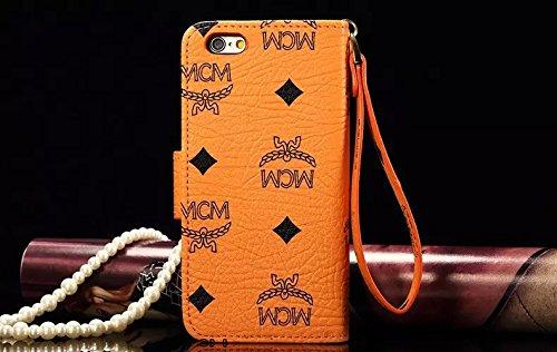MCM(エムシーエム) アイフォン7/7plus6s/6splus/6/6plus/se/5s/5財布型ケース レザーケース iPhone7/7plus6s/6splus/6/6plus/se/5s/5マグネット式 カード収納 ポケットホルダー付き スタンド機能付き 手帳型 本革カバー 多機種対応 iPhone6/6s [並行輸入品]