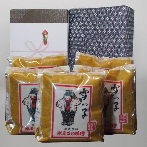 [進学のお祝い・プレゼントに 味噌セット]ギフト 雪っ子 辛口味噌(みそセット)