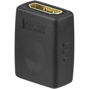 VCE HDMI 中継 アダプタ HDMI タイプA メス- HDMI タイプA メス 金メッキコネクタ HDMI 延長 アダプタ