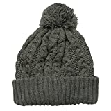 キッズ 子供用 ニット帽 SHISKYケーブル編みニット帽 韓国子供服 4.チャコール FREE