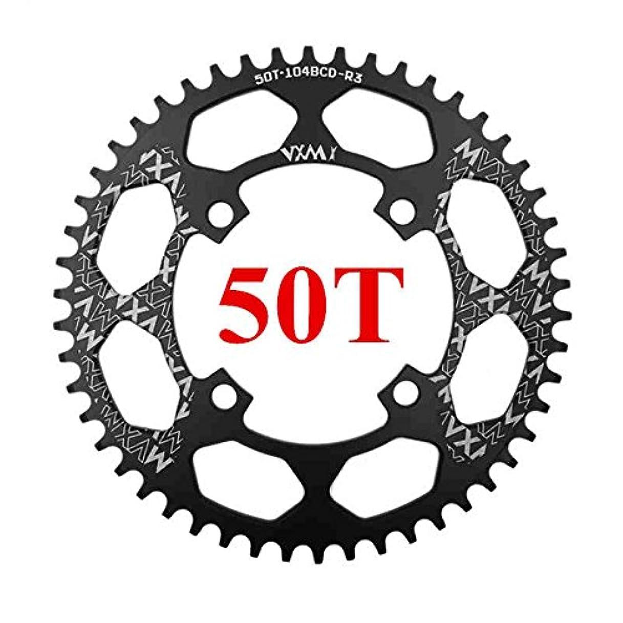 失国民発表Propenary - 自転車104BCDクランクオーバルラウンド30T 32T 34T 36T 38T 40T 42T 44T 46T 48T 50T 52TチェーンホイールXT狭い広い自転車チェーンリング[ラウンド50Tブラック]