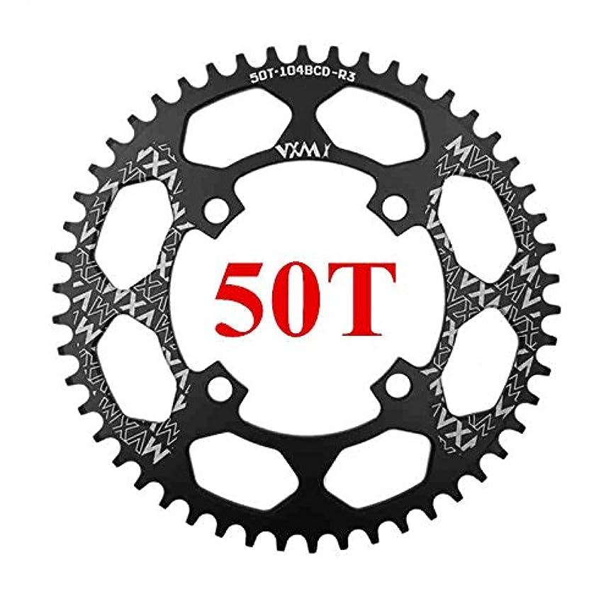 約束する有利より良いPropenary - 自転車104BCDクランクオーバルラウンド30T 32T 34T 36T 38T 40T 42T 44T 46T 48T 50T 52TチェーンホイールXT狭い広い自転車チェーンリング[ラウンド50T...