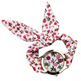 PolytreeレディースGirl 's花柄布バンドフラワードレスクォーツ腕時計(タイプ10)