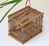 竹製「虫籠(大)炭化竹」72-503