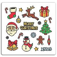 2×10センチメートルメリークリスマスビニールステッカー - クリスマス楽しいステッカーノートパソコンの荷物の#17614(10センチメートルワイド)