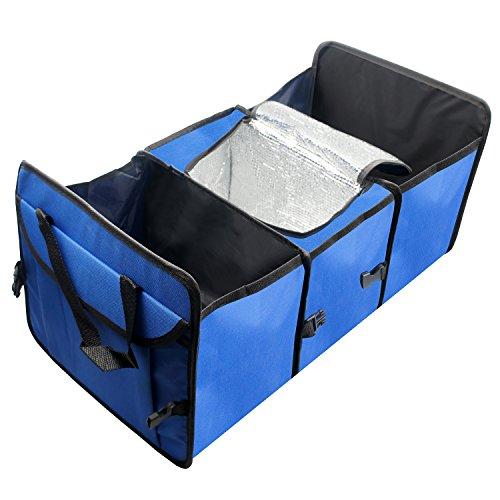 powseed 車用 多機能 収納ボックス ポケット ケース カバー 5ボックス 大容量 折り畳み式 取っ手付き 保温保冷機能付き フタ付き ミニカゴ カーストレージボックス 小物入れ 収納袋 自動車 トランク 旅行 お出かけ用 飛び出し防止