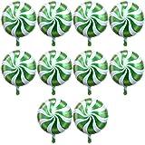 Blesiya フィルムバルーン 風船 バルーン ラウンド ロリポップ キャンディー 可愛い 装飾 全6色選べる - 緑