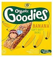 Organix Goodies Organic Banana Soft Oaty Bars 6 x 30g (Pack of 2) - Organixは、有機バナナソフトOatyバー6×30グラムをグッズ (Organix) (x2) [並行輸入品]