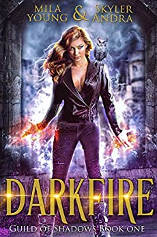Darkfire: A Reverse Harem Paranormal Romance (Guild of Shadows Academy) by [Andra, Skyler, Young, Mila]