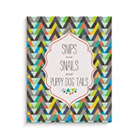 Lucy Darling Snips and Snails Print Wall Decor, 8 x 10 by Lucy Darling