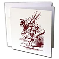 PSヴィンテージ–アリスの国のアリスから白ウサギ–グリーティングカード Individual Greeting Card