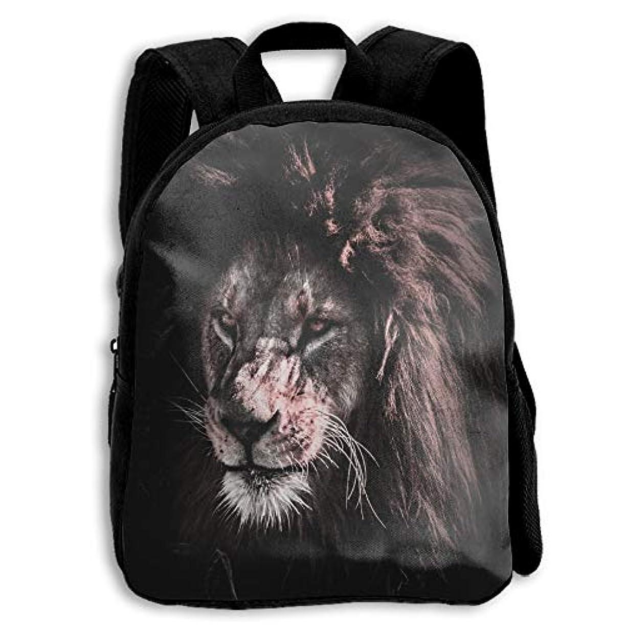 ナビゲーション丘薄いですキッズ リュックサック バックパック キッズバッグ 子供用のバッグ キッズリュック 学生 動物柄 ライオン 獅子 アウトドア 通学 ハイキング 遠足