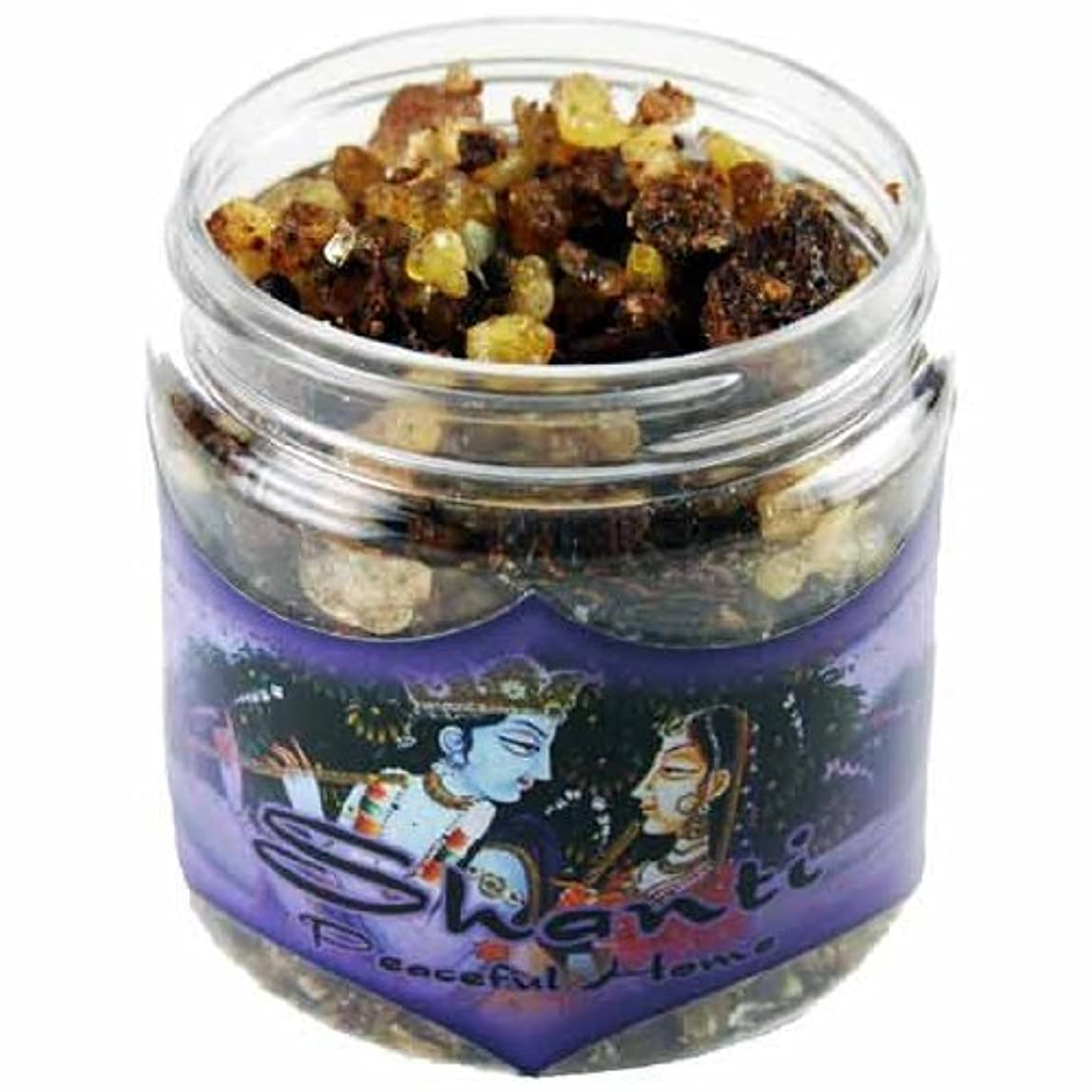 ラウズ一部ボイドResin Incense Shanti - Peaceful Home - 2.4oz jar [並行輸入品]