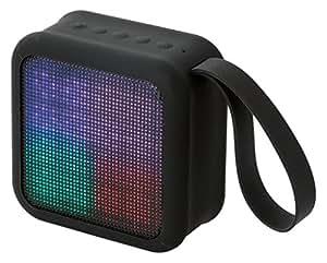 ELECOM Bluetoothスピーカー LED搭載 ポータブル/ワイヤレス ストラップ付き ブラック  LBT-SPLD01ECBK