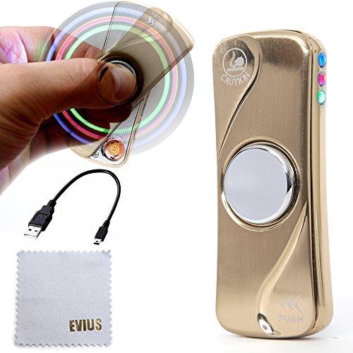 EVIUS 電子ライター スピナーライター 高回転 1~4分回転 LEDライト付き (ゴールド)...