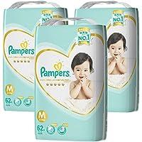 【テープ Mサイズ】パンパース オムツはじめての肌へのいちばん (6~11kg)186枚(62枚×3パック) [ケース品]