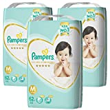 「【ケース販売】 パンパース テープ 6~11kg はじめての肌へのいちばん 186枚 62枚×3」の画像