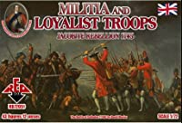 PLASTIC MODEL FIGURES Jacobite Rebellions. Militia and Loyalist Troops 1745 43 FIGURES IN 12 POSES 1/72 RED BOX 72051