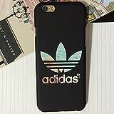 iPhone6 ケース 4.7 【adidas】(アディダス) カラーストライプ ハードケース ブラック (iphone6s/6(4.7), ブラック) [並行輸入品]