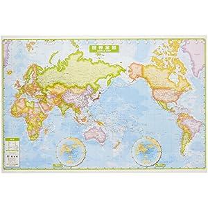 スクリーンマップ 世界全図 卓上版 (ポスター 地図 | マップル)