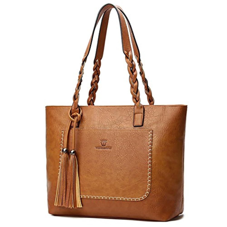 DOODOO レディースバッグ 財布 小銭入れ ハンドバッグPUレザーに 褐色 [並行輸入品]