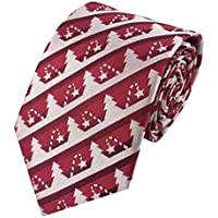 PenSee Christmas Woven Tie for Pattern Festive Neckties - Various Styles