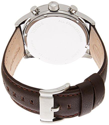 [フォッシル]FOSSIL 腕時計 レザーベルト クロノグラフ BQ1129 メンズ アイボリー