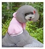SCT ドッグウェア 無地犬服 パーカー トレーナー 犬 服 ペット服 あったか いぬ (XXL, Pink)