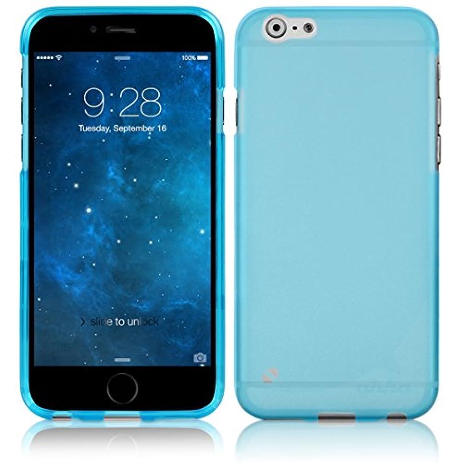 彼自身定数火傷ahha iPhone6s iPhone6 4.7 半透明 TPU ソフト グミ シェル ケース MOYA クリア ブルー A-GSIH647-0M03