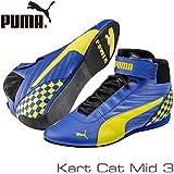 PUMA レーシングシューズ Kart Cat MID3 BLUE/YELLOW サイズ42(27.0cm)
