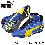 PUMA スポーツシューズ PUMA レーシングシューズ Kart Cat MID3 BLUE/YELLOW サイズ42(27.0cm)