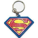 ラバーキーホルダー KEY HOLDER SUPERMAN スーパーマン ブルー