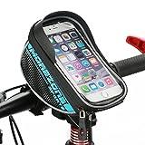 MOREZONE 自転車 スタンド 5.5インチ サドルバッグフロントバッグ 自転車 すまほスタンド スマホホルダー iPhone 6/6S/Plus Xperia 対応 携帯ホルダー バイク収納アクセサリー